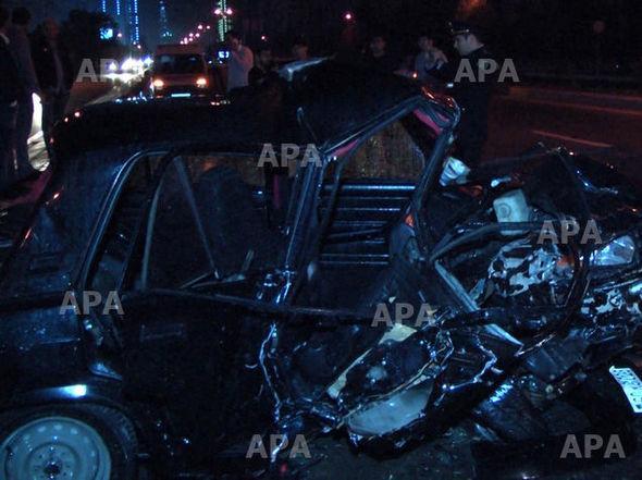 Polisin qovduğu avtomobil qəzaya uğradı: ölənlər var – FOTO
