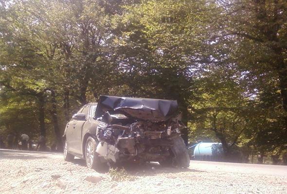 İsmayıllıda iki avtomobil toqquşub - FOTO