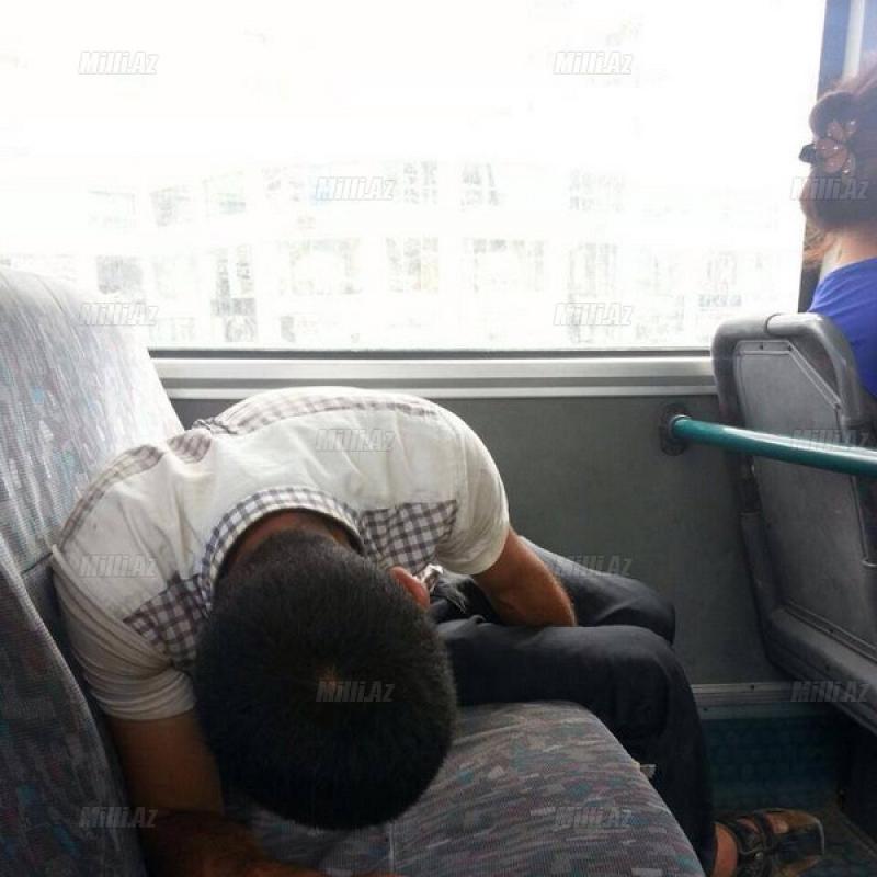 Bakı avtobusunda bunu da gördük - VİDEO - FOTO